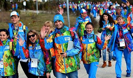 волонтеры на олимпиаде