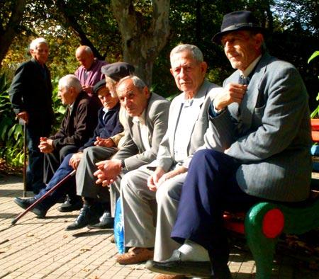 грузинские пенсионеры