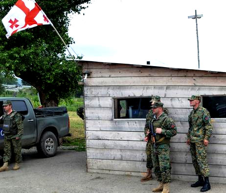 грузинские пограничники