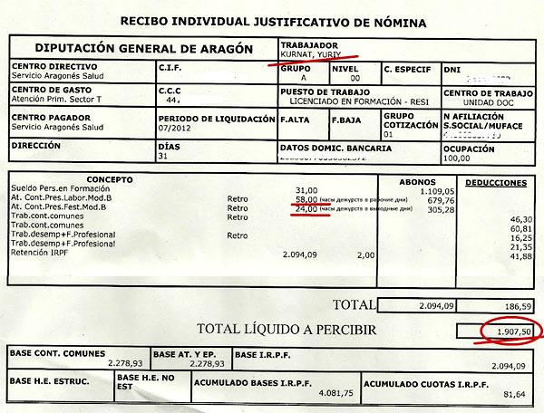 Испания зарплата врача