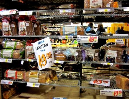 цены на продукты Швеция