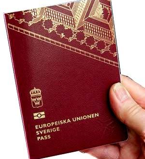 паспорт Швеция