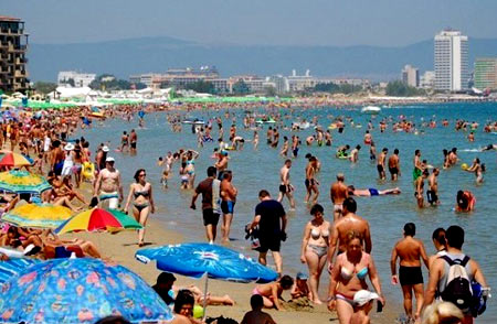 туристы в Болгарии