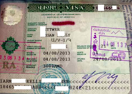 рабочая виза Армения