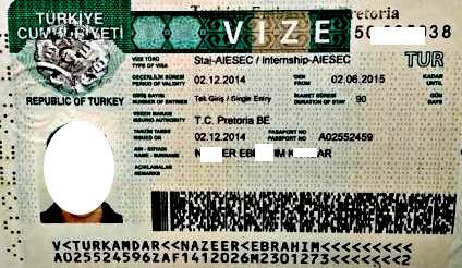 рабочая виза Турция