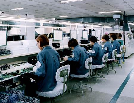 южная корея  фабрика