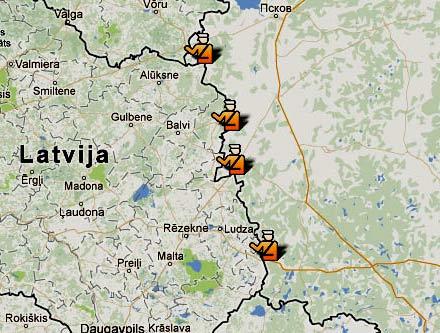 граница России Латвии