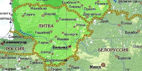 границы Литвы и Белоруссии
