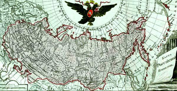 карта России 18 век
