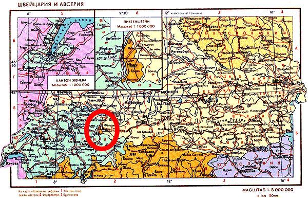расположение Лихтенштейна