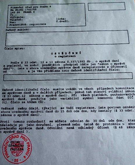 регистрация юридического лица Чехия
