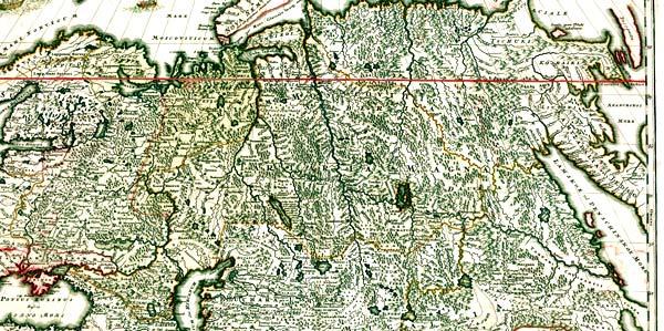 средневековая карта России