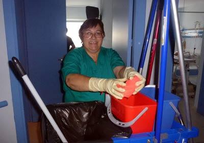 работу уборщицей