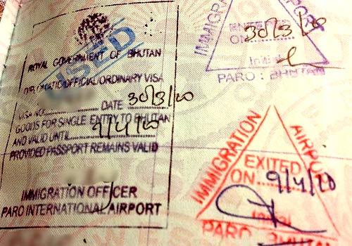Бутан виза