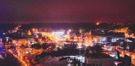 Вильнюс ночью