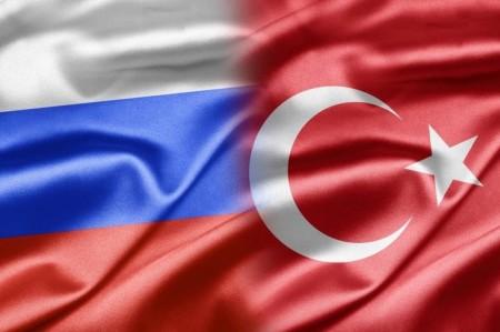 Флаги Турции и России