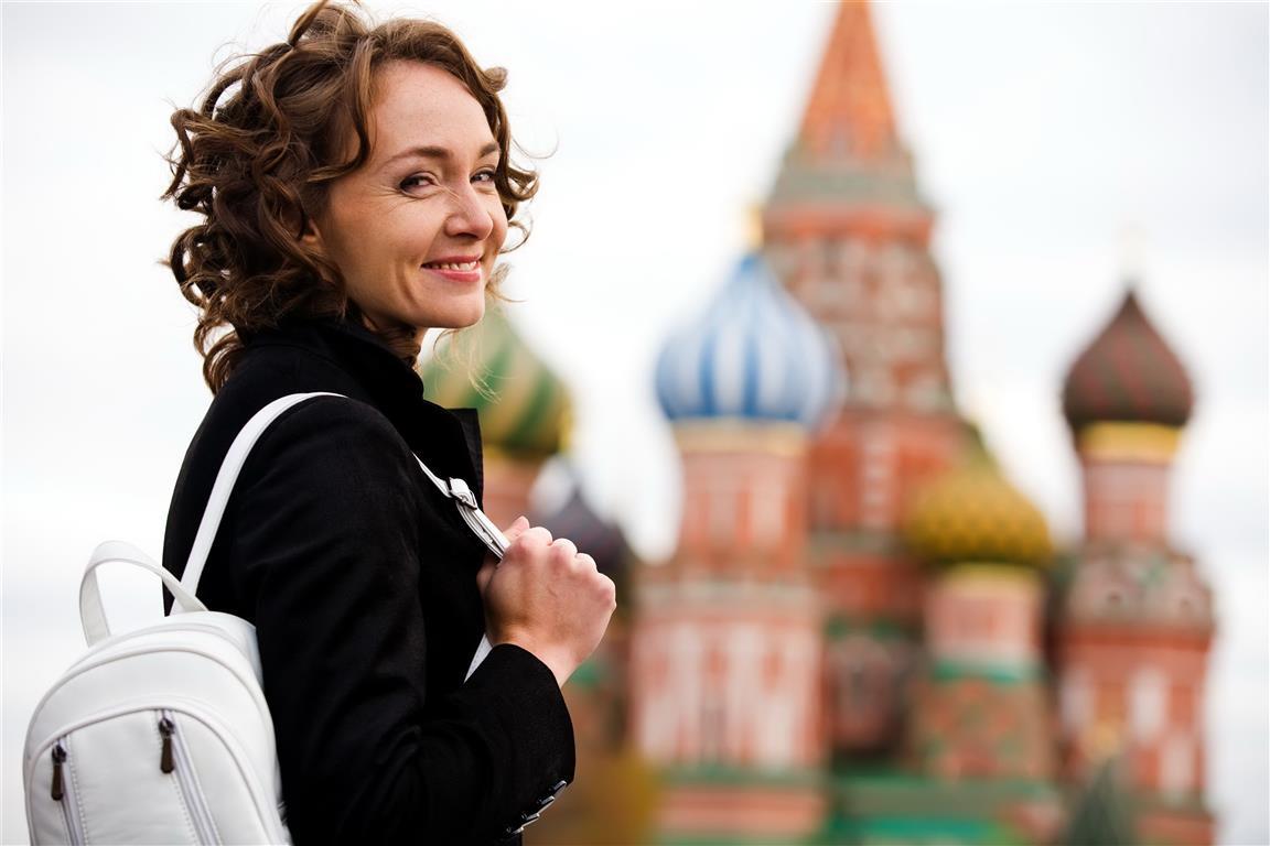 Турист в Москве