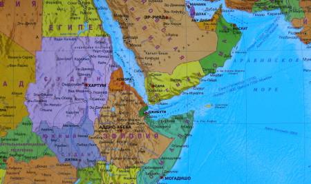 Судан на карте Африки