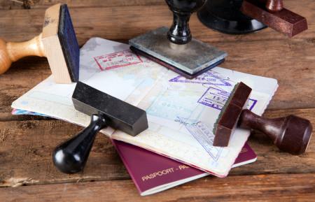 Штампы виз в паспорте
