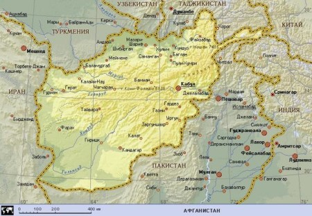 Афганистан на карте