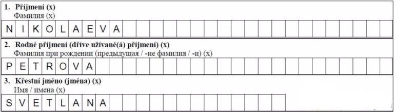 1-3 пункты анкеты
