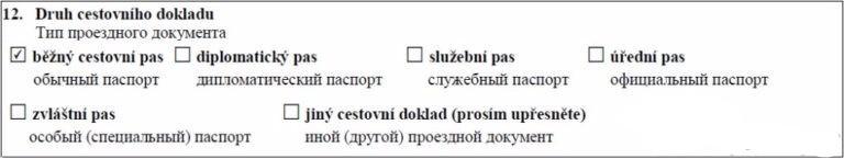 12 пункт анкеты
