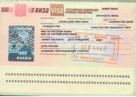 Виза в РФ