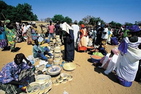 Рынок в Сенегале