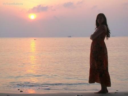 Отдых на море беременной