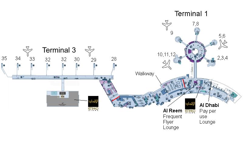 Схема аэропорта Абу-Даби