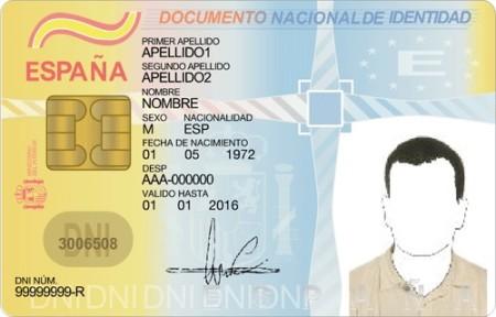 Удостоверение личности испанца