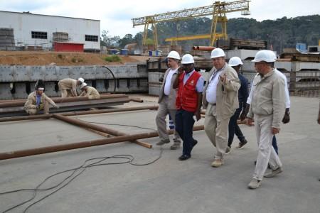 Площадка строительства гидроэлектростанции Сендже