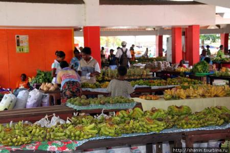 Рынок в столице Ваунтау- Порт-Вила