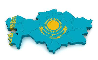 Границы Казахстана на карте