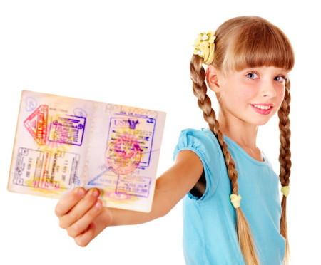 Детский загранпаспорт с визами