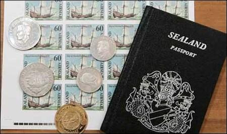 Деньги и паспорт Силенда