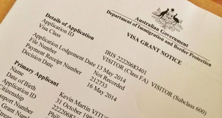 Уведомление о выдаче визы