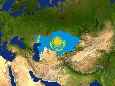 Силуэт Казахстана на карте