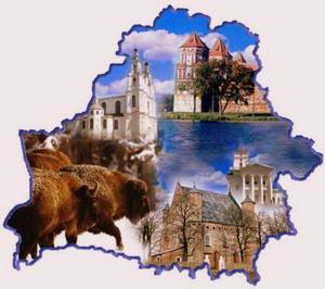 Силуэт Беларуси на карте