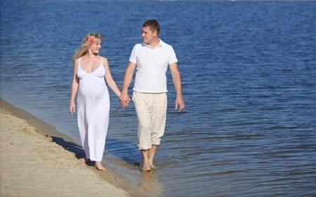 Отдых беременных на море