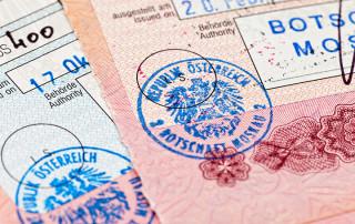 Штамп визы в загранпаспорте