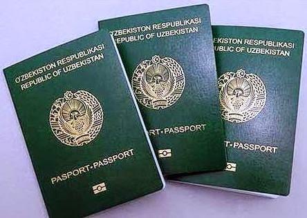Загранпаспорт гражданина Узбекистана