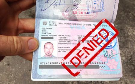 Отказ в визе в Индию
