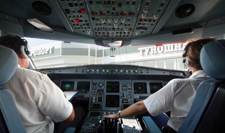 Кабина пилотов в самолете