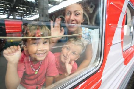 Проезд детей в поезде
