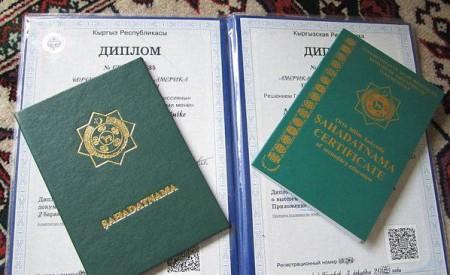 Диплом Киргизского государства