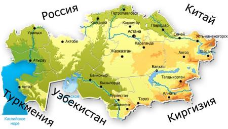 Соседи Казахстана