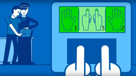 Порядок сканирования отпечатков пальцев