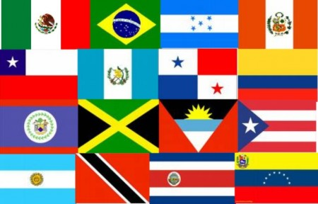 Флаги стран Латинской Америки