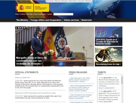 Сайт Генерального Консульства Испании